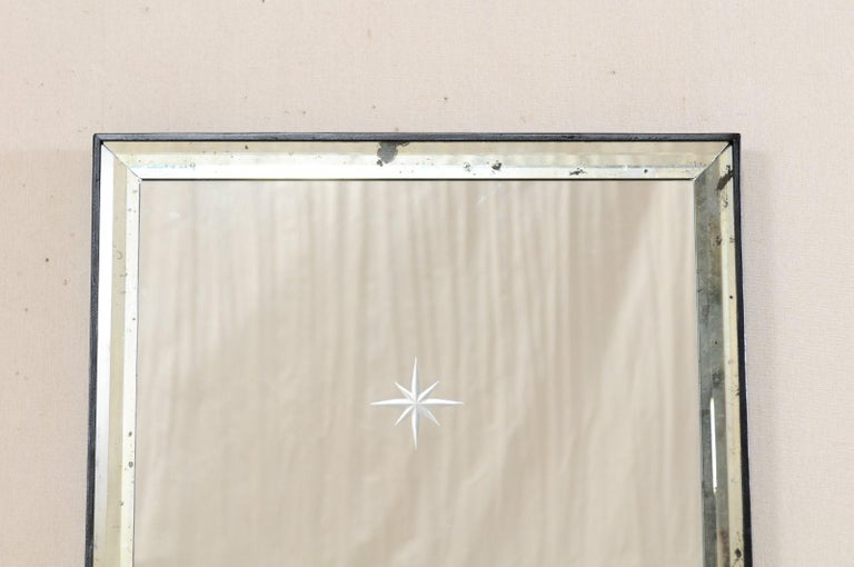 A Pair of Artisan Hand-Crafted Silver Églomisé Starburst Mirrors, 4 Ft Tall  In Good Condition In Atlanta, GA