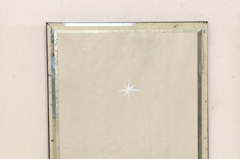 A Pair of Artisan Hand-Crafted Silver Églomisé Starburst Mirrors, 4 Ft Tall  2