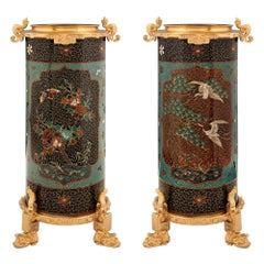 Pair of Asian Vases with French 19th Century Ormolu Mounts