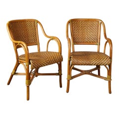 Pair of Bamboo Conservatory Chairs