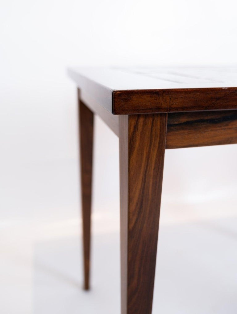 Mid-20th Century Pair of Bedside Tables in mahogany with Brown Tiles of Danish Design, 1960s For Sale