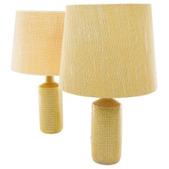 Pair of Beige DL/30 Table Lamps by Linnemann-Schmidt for Palshus, 1960s