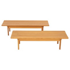 Pair of Benches by Børge Mogensen.
