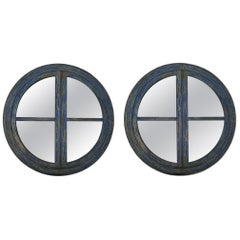 Pair of Big Round Frame Mirrors