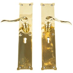 Pair of Brass Door Handles by William Tonks & Sons