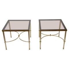 Pair of Brass Hollywood Regency Side Tables