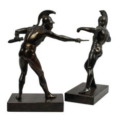 Pair of Bronze Ancient Greek Warriors
