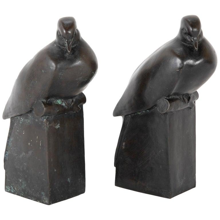 Pair of Bronze Sculptures after François Pompon For Sale