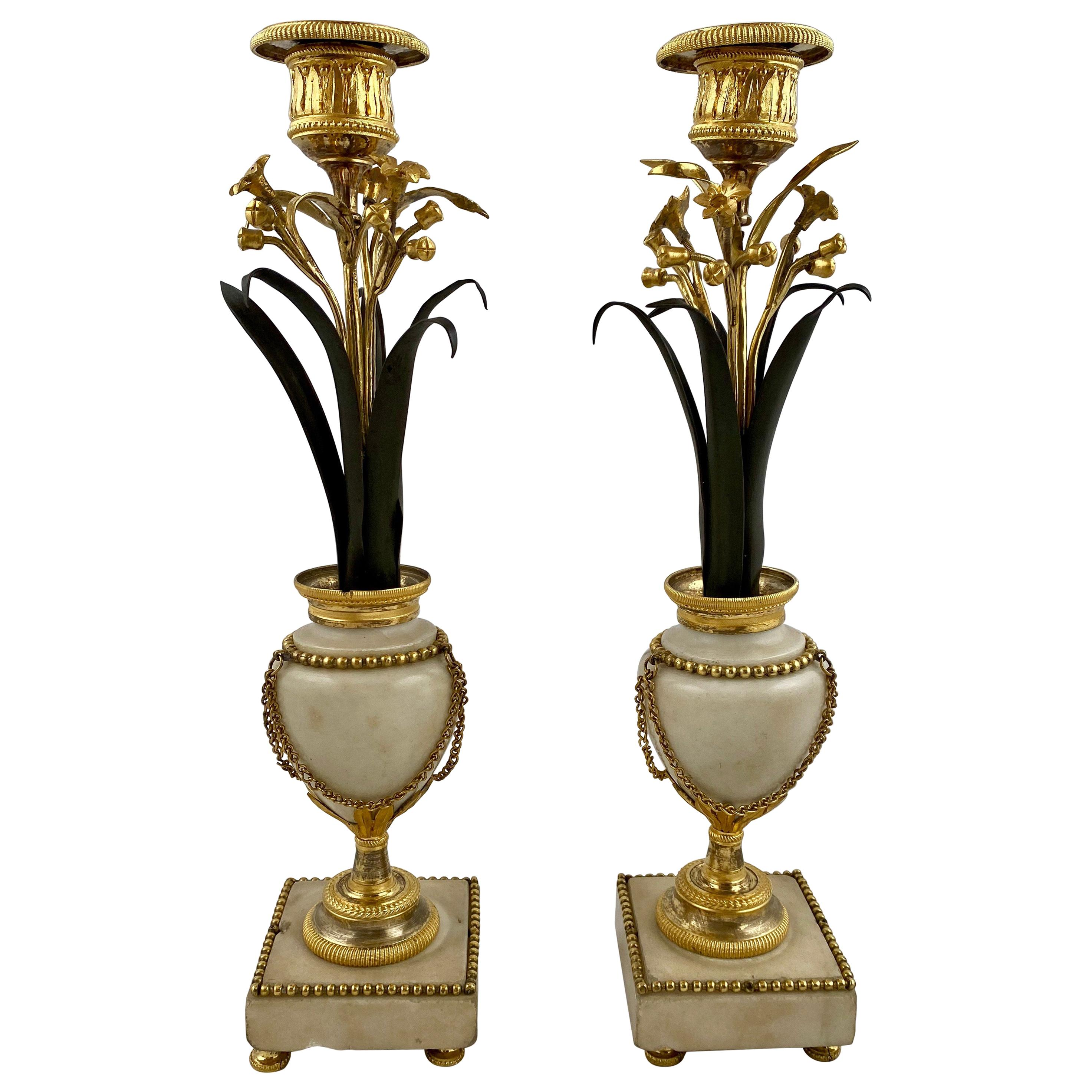 Pair of Candlesticks, Late 18th Century