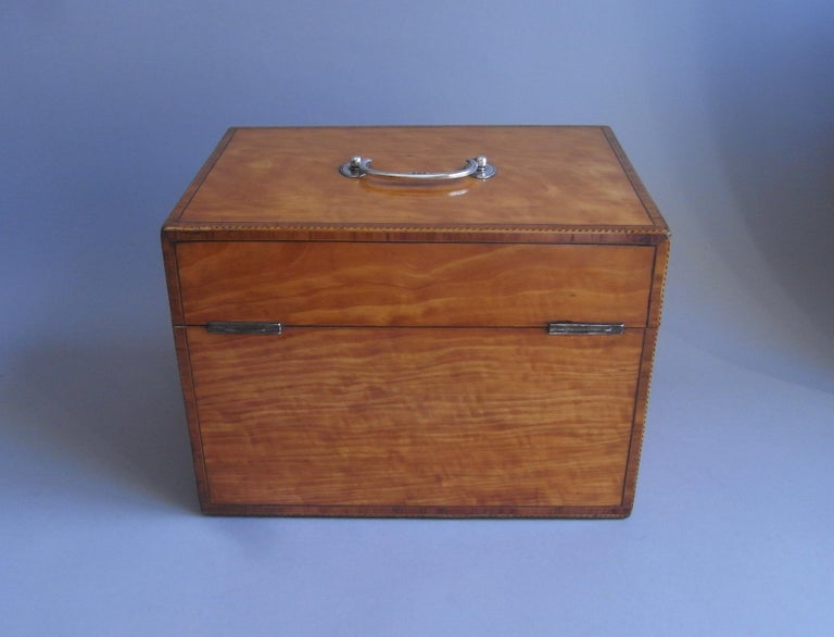 Pair of Cased George III Tea Caddies Made in London in 1793 by William Frisbee For Sale 7