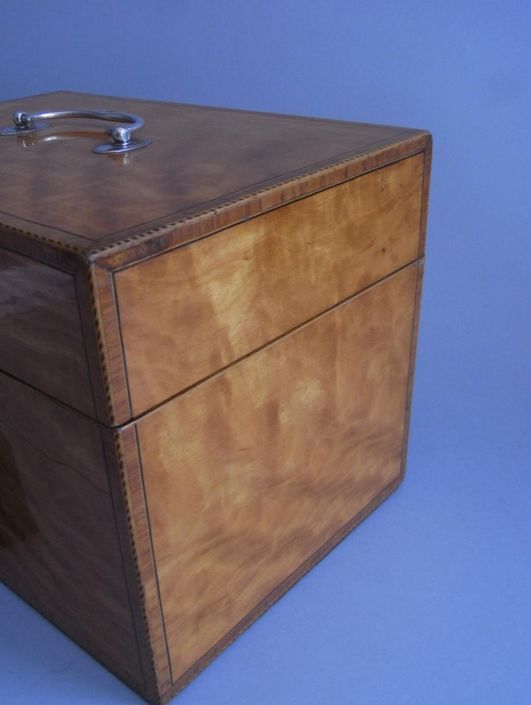 Pair of Cased George III Tea Caddies Made in London in 1793 by William Frisbee For Sale 8