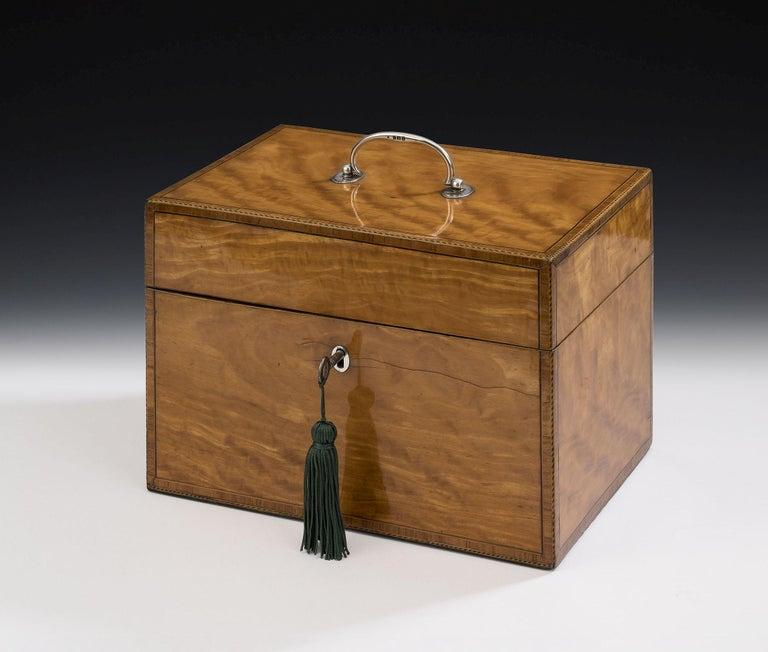 European Pair of Cased George III Tea Caddies Made in London in 1793 by William Frisbee For Sale