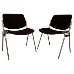 Pair of Castelli DSC 106 Chairs, Designed by G. Piretti, Italy, 1960s