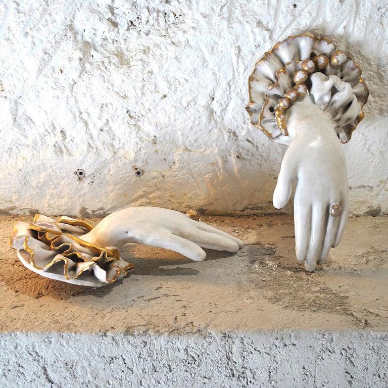 Refined pair of 1920s ceramic hands Art Deco.
