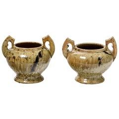 Pair of Ceramic Vases by Armand Bedu, to La Borne , circa 1940