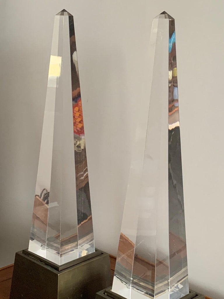American Pair of Chapman Obelisk Lamps, circa 1977 For Sale