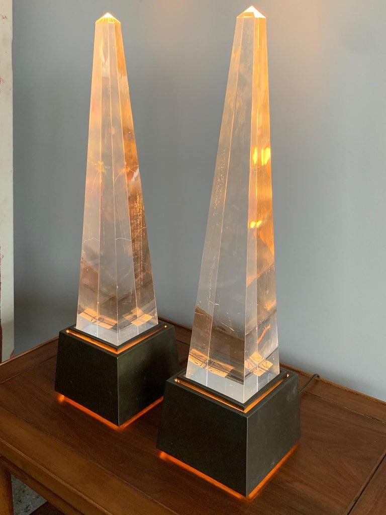 Pair of Chapman Obelisk Lamps, circa 1977 For Sale 1