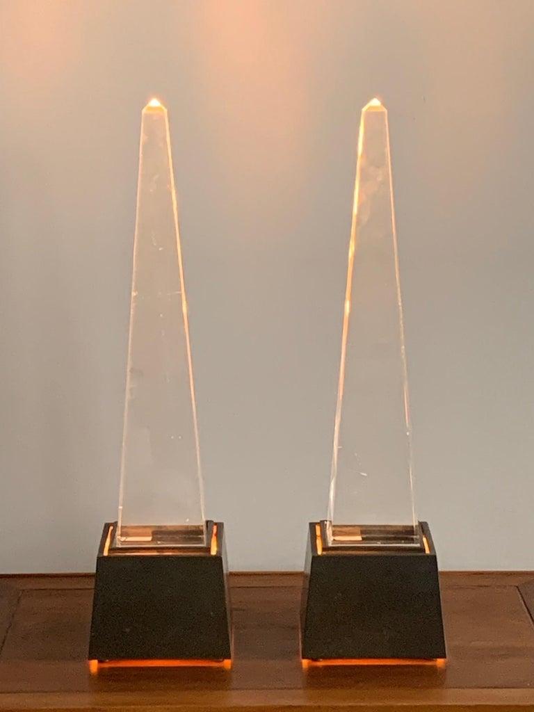 Pair of Chapman Obelisk Lamps, circa 1977 For Sale 2