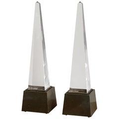 Pair of Chapman Obelisk Lamps, circa 1977