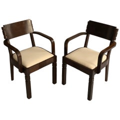 Pair of Charles Dudouyt Armchairs