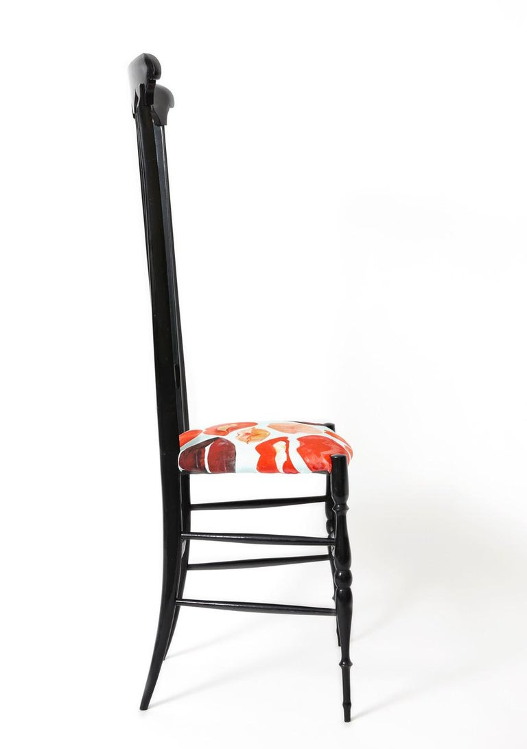 Mid-Century Modern Pair of Chiavari Chairs Model Spada For Sale