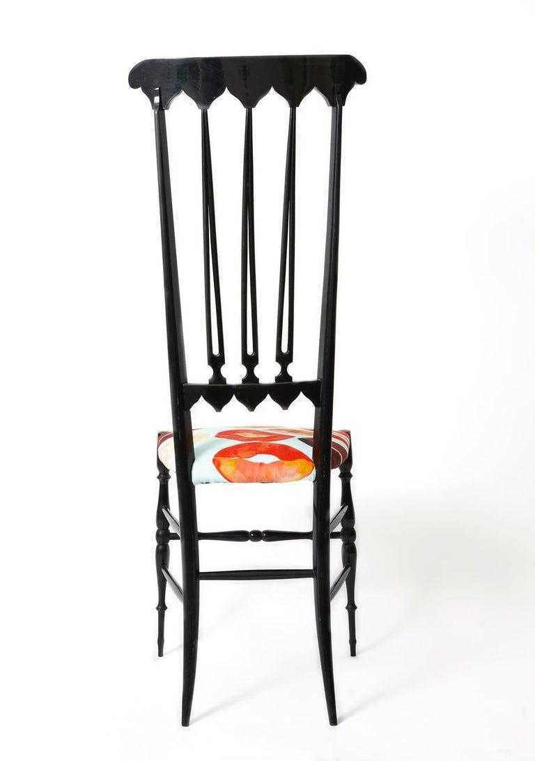 Italian Pair of Chiavari Chairs Model Spada For Sale