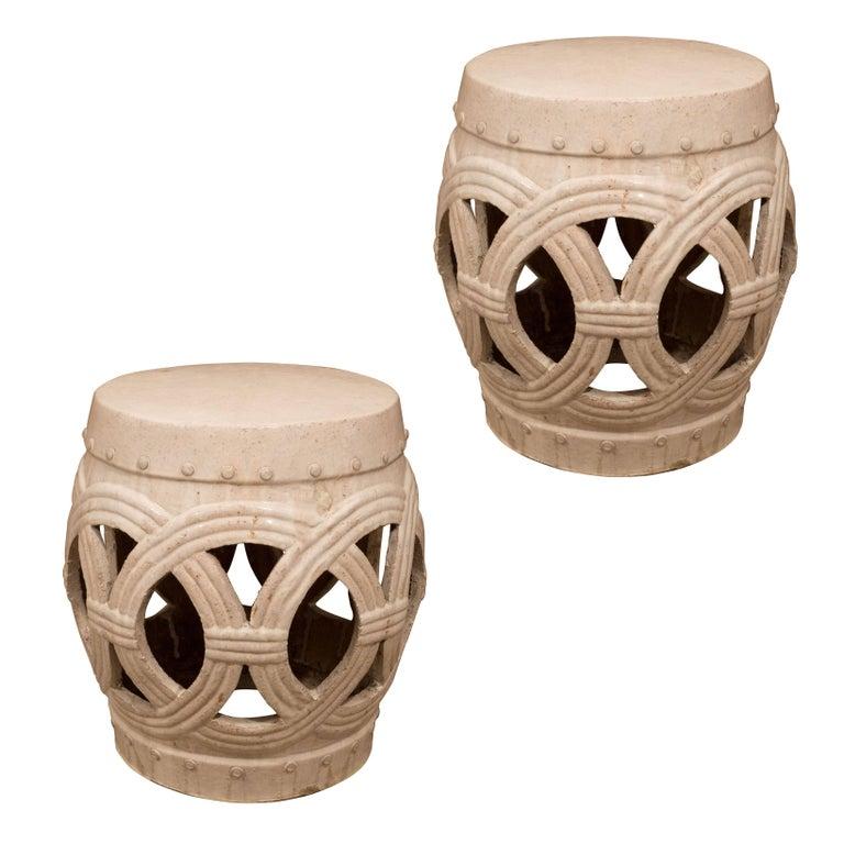 Pair of Chinese Ceramic Garden Stools