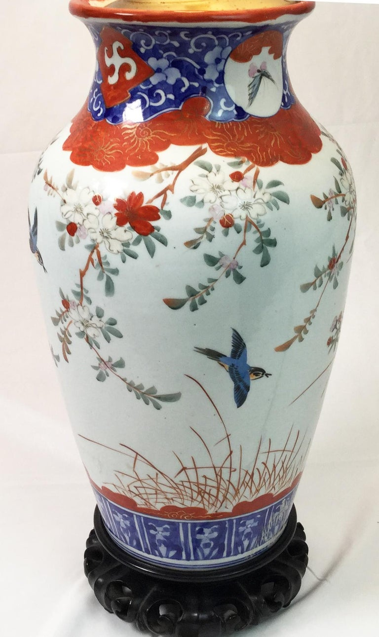 Pair of Chinese Porcelain Lamps For Sale 1