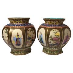 Pair of Chinese Porcelain Republic Period Jardinières
