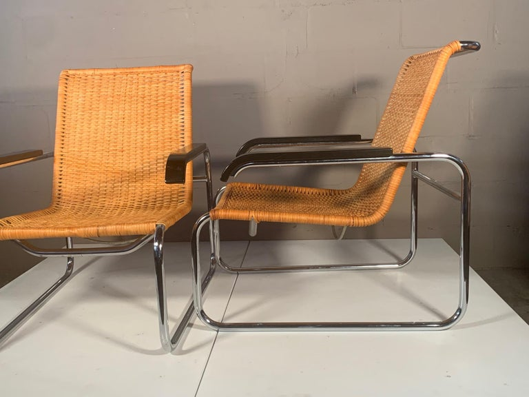 German Pair of Classic Marcel Breuer B35 Chairs ICF