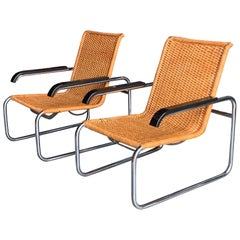 Pair of Classic Marcel Breuer B35 Chairs ICF