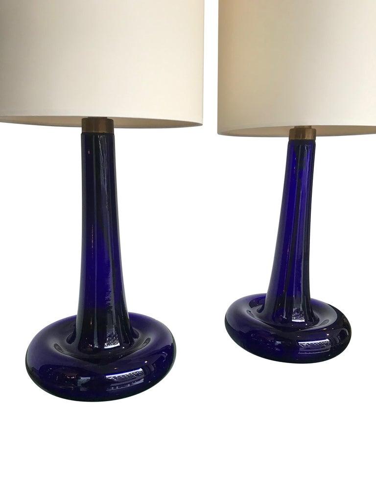 A pair of cobalt blue