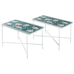 Pair of Coffee Tables with Ceramic Tiles by Gio Ponti for Ginori