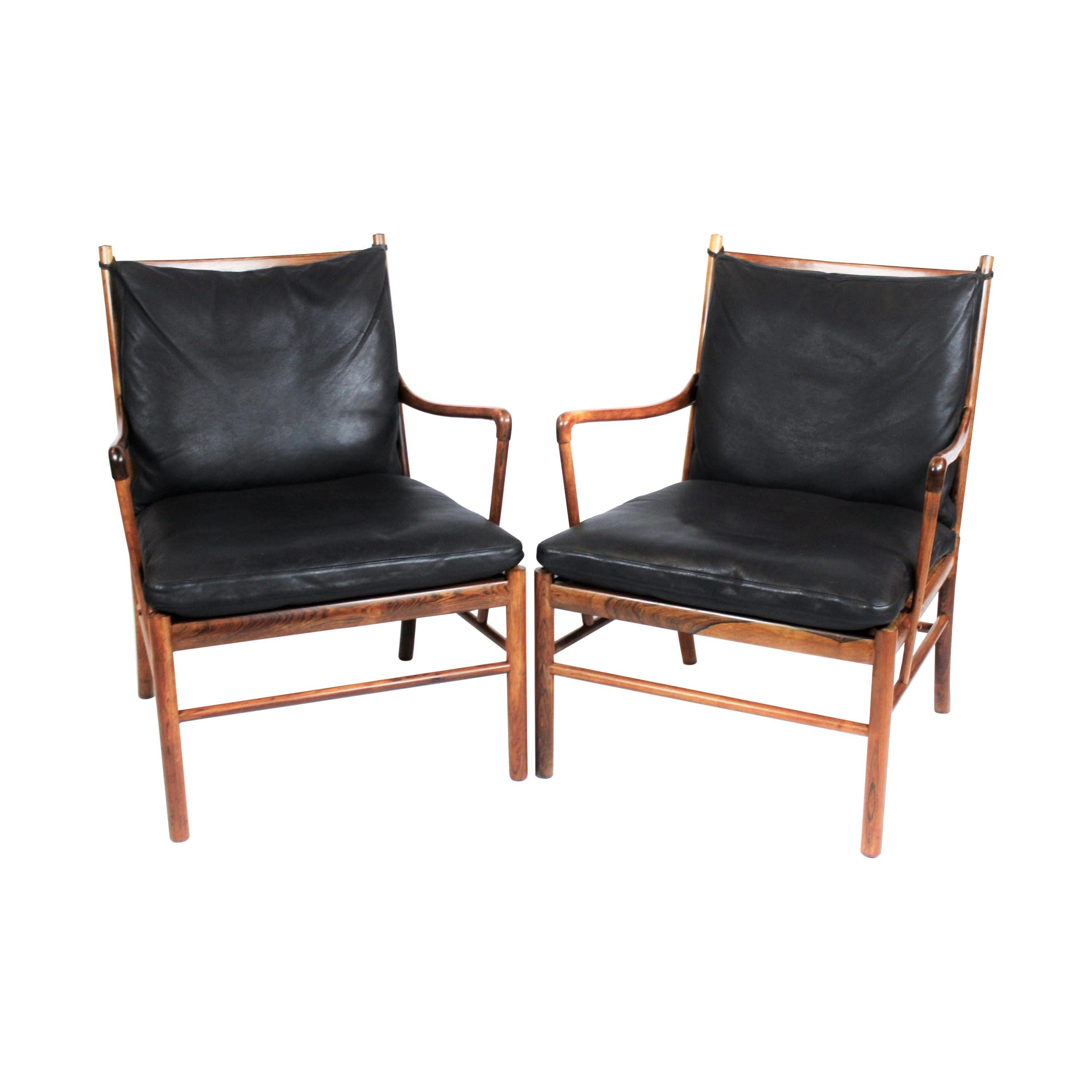 Pair of Colonial Easy Chairs, Model PJ149, by Ole Wanscher