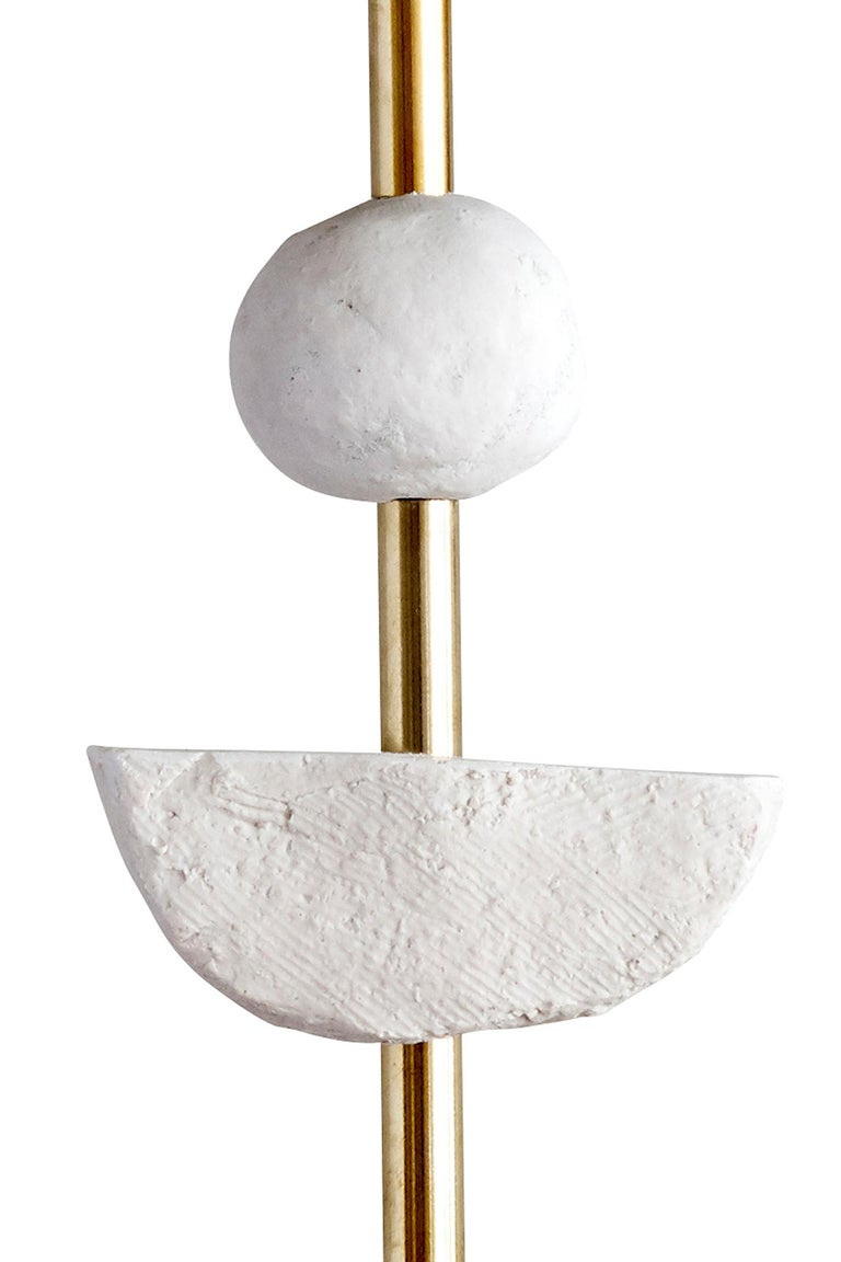 Cast Pair of Contemporary European Table Lamp Synergy in White by Margit Wittig For Sale