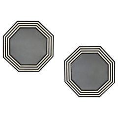Pair of Contemporary Octagonal Mirrors