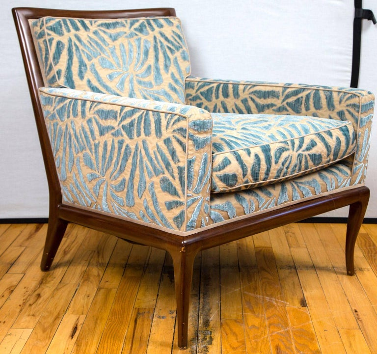 A pair of Nancy Corzine Allure lounge chairs upholstered in Nancy Corzine Cavallo fabric.