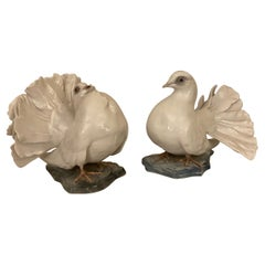 Pair of Courting White Doves, Rosenthal, Germany, 1930's