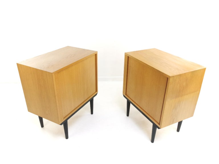 Pair of Danish Midcentury Tambour Cabinets by Hundevad, 1970s For Sale 1