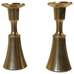 Pair of Danish Miniature Brass Candlesticks by Jens H. Quistgaard, 1960s