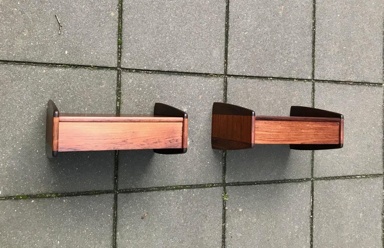 Pair of Danish Modern Floating Rosewood Nightstands by Melvin Mikkelsen, 1960s For Sale 1