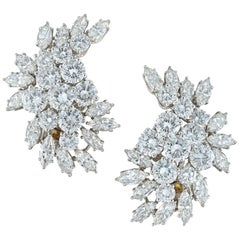 Pair of Diamond Clip Earrings