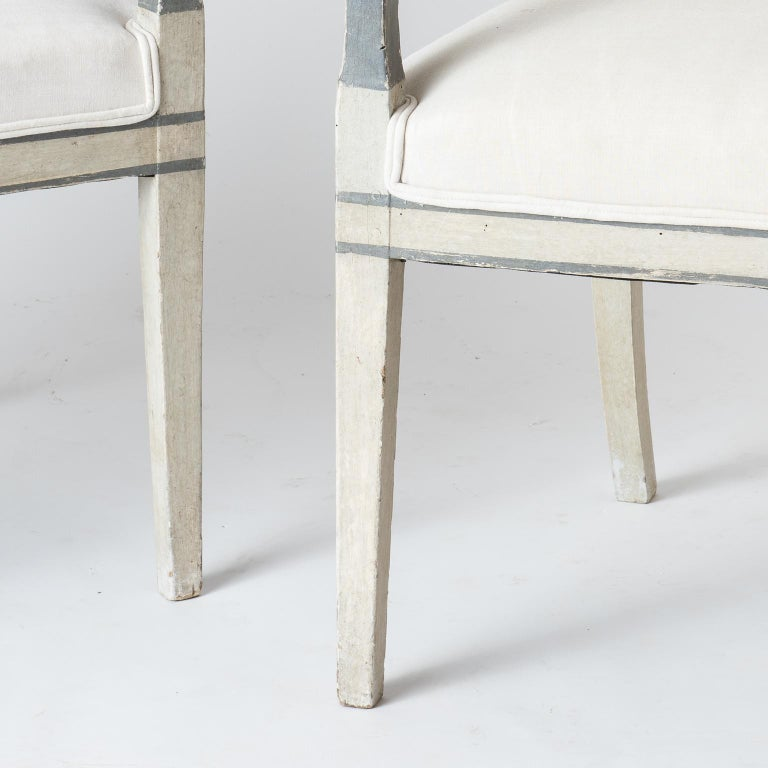 Pair of Directoire Period Armchairs, France, circa 1820 For Sale 5