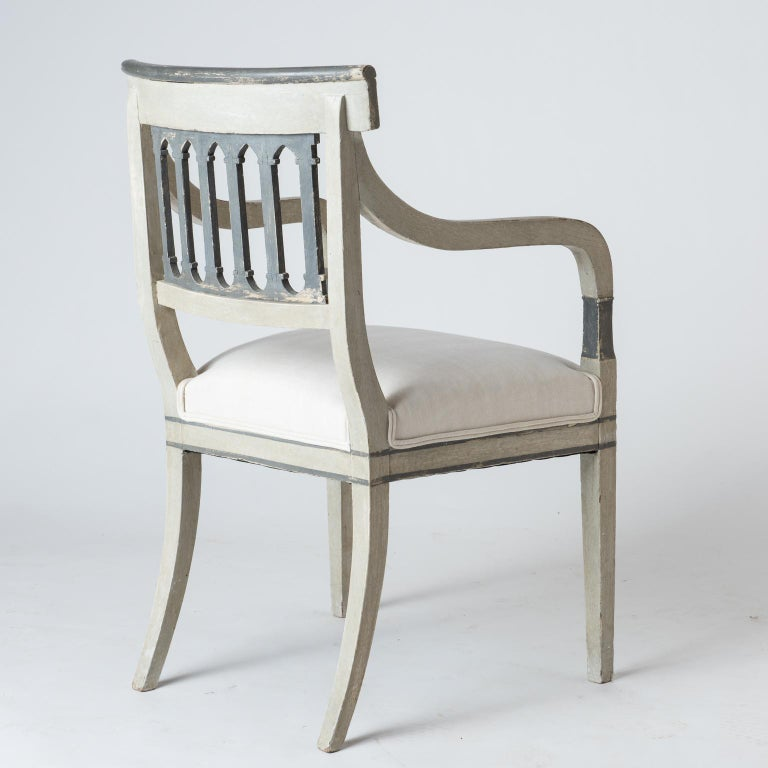 Pair of Directoire Period Armchairs, France, circa 1820 In Good Condition For Sale In New Preston, CT