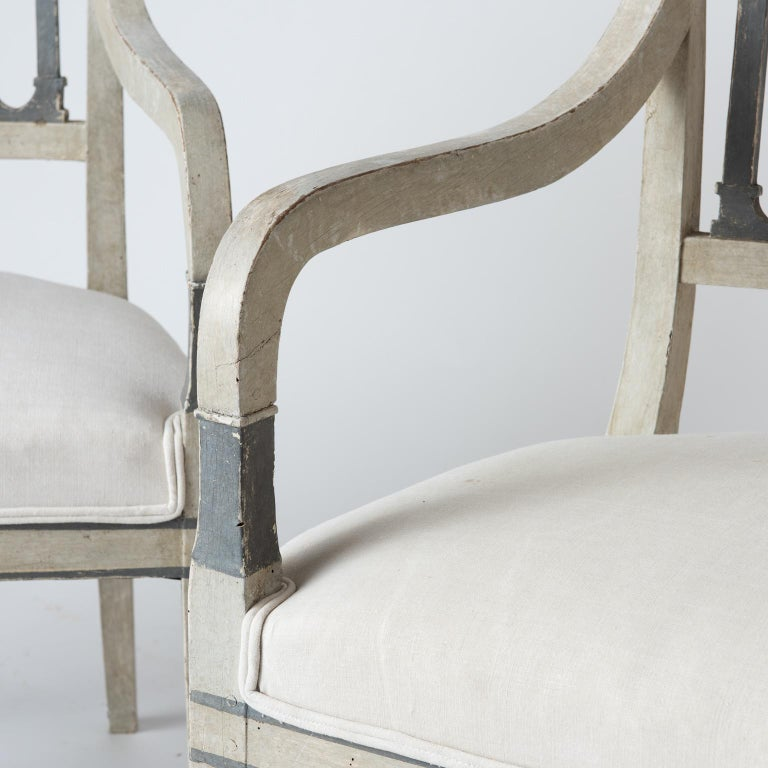 Pair of Directoire Period Armchairs, France, circa 1820 ...
