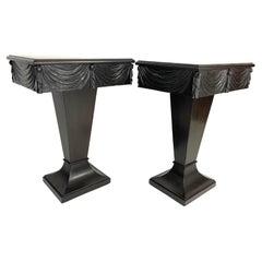 Pair of Dorothy Draper Grosfeld House Pedestal One-Drawer End or Night Tables