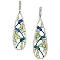 A Pair of Dragonfly Earrings by Ilgiz F