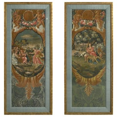Pair of Early 18th Century Baroque Allegorical Panels