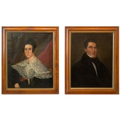 Pair of Early 19th Century Portraits of an Aristocratic Couple