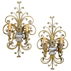 Pair of Early 20th Century French Wall Lights or Sconces after Maison Baguès